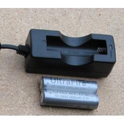 Kraftfullt 118650 batteri & laddare för eftersökslampa L2