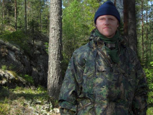 Jägare och Grundare Magnus Collin på älgjakt